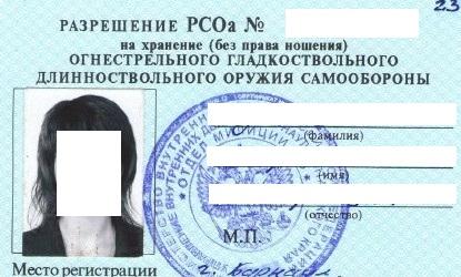 Пример готового разрешения