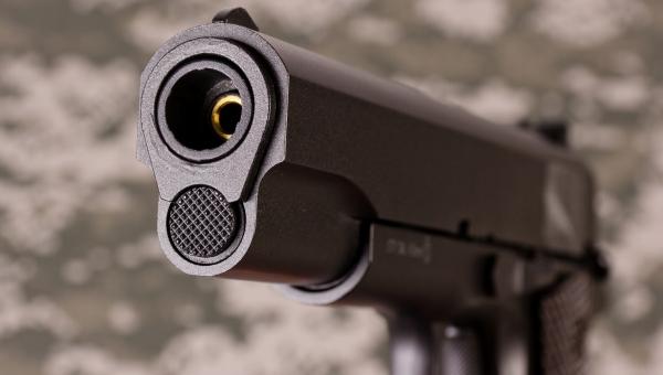 Дуло пневматического пистолета