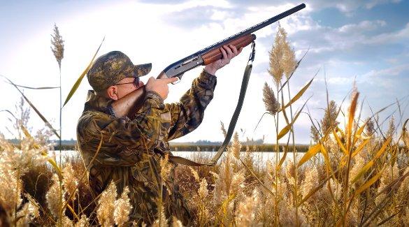 Охотник целится в дичь