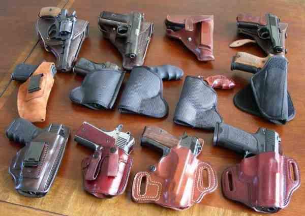 Пистолеты в кобуре