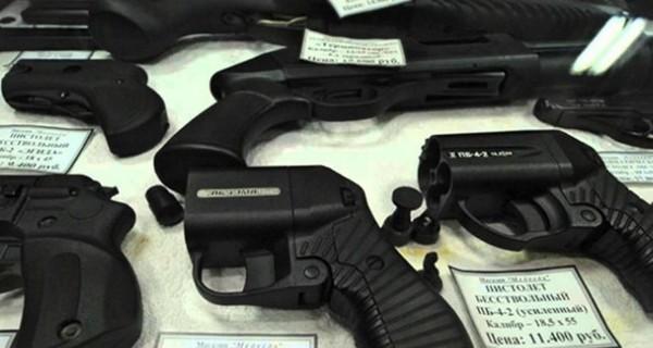 Выбор оружия в настоящем магазине