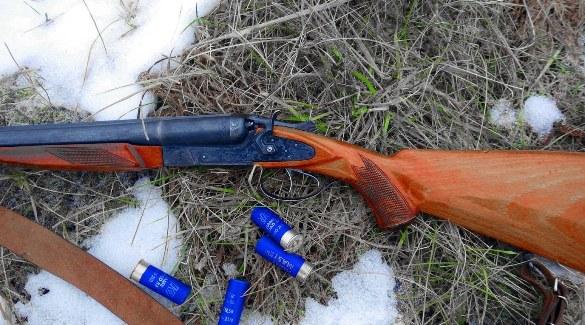 Ружье на снегу