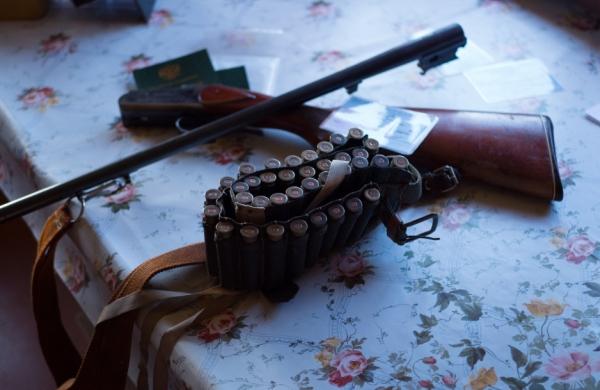Ружье, патроны и охотничий билет