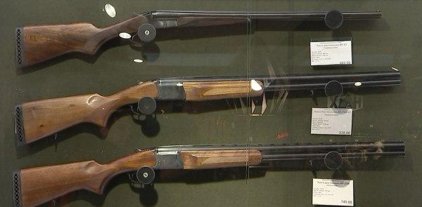 Ружья в магазине