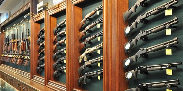 Выбор оружия в магазине