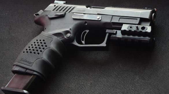 Удобный черный пистолет