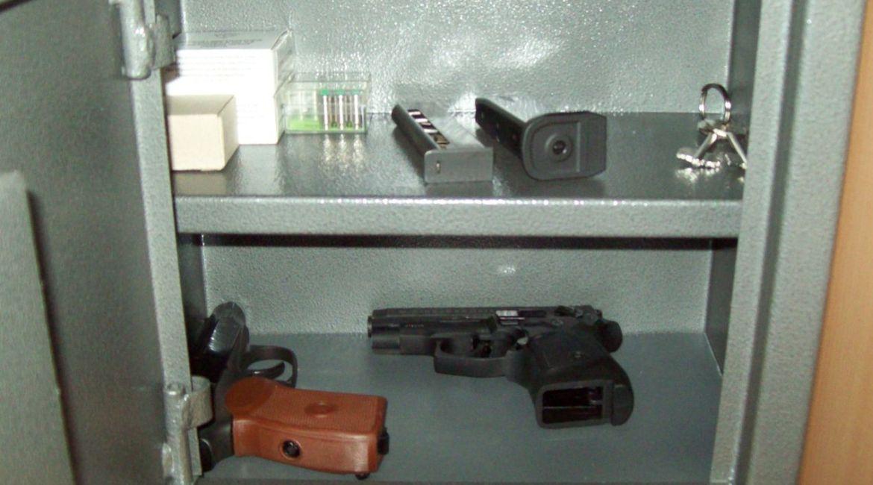 Сейф для травматического пистолета