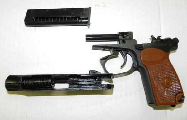 Разборка пистолета