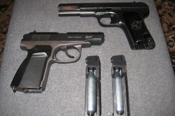 Пистолеты и газовые баллоны