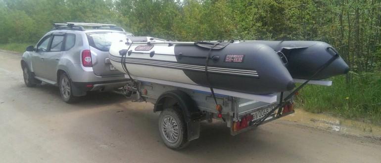 Транспортировка надувной лодки