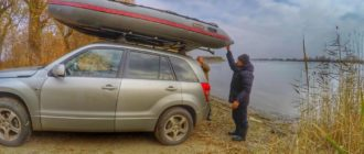 Перевозка лодки на крыше автомобиля