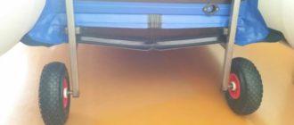 Быстросъемные транцевые колеса на струбцинах для лодок