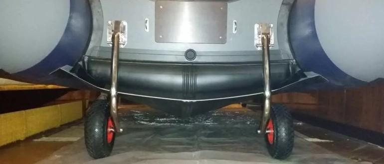 Надувная лодка на колесах